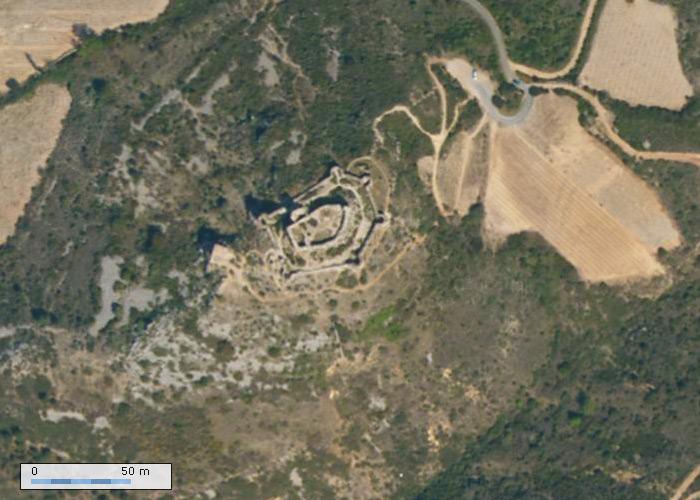 Vue aérienne Chateau Aguilar