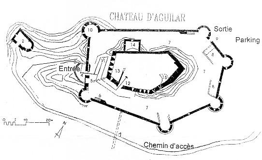 Plan : Château d'Aguilar