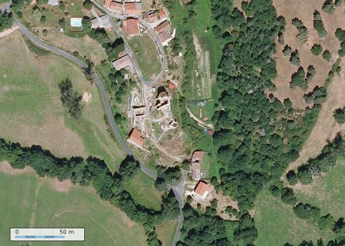 Chateau de Boissonnelle depuis Geoportail