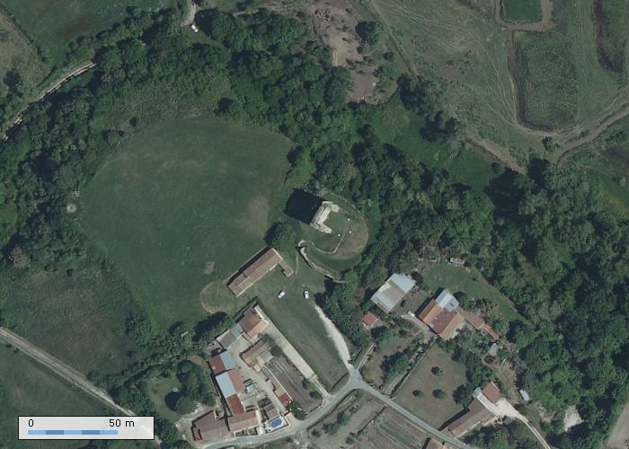 Chateau de Broue sur Geoportail