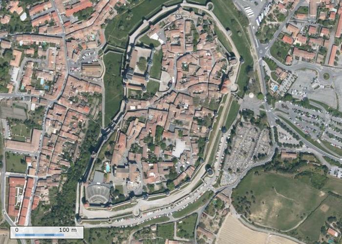Cité de Carcassonne sur Geoportail