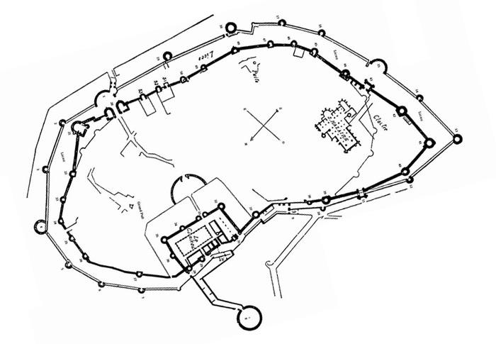 Plan de la cité de Carcassonne