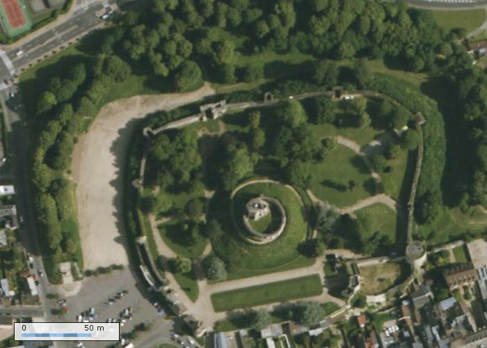 Chateau de Gisors sur Geoportail