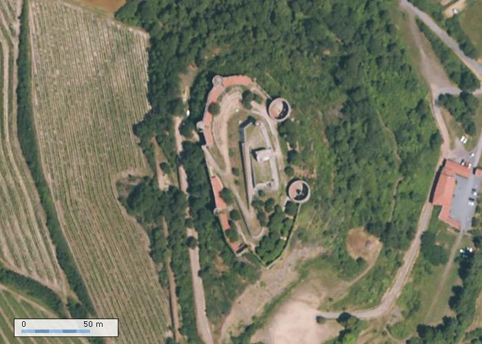 Chateau de Marcilly sur Geoportail