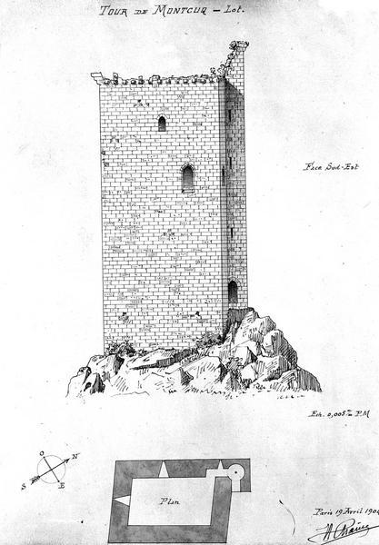 Plan du donjon de Moncuq