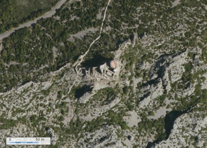 Château de Quéribus sur Geoportail