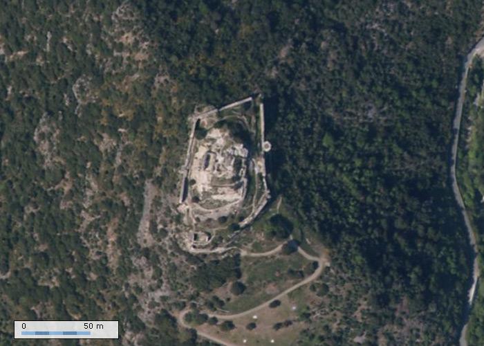 Château de Terme sur Geoportail
