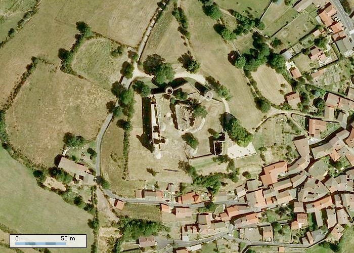 Château de Viverols sur Geoportail