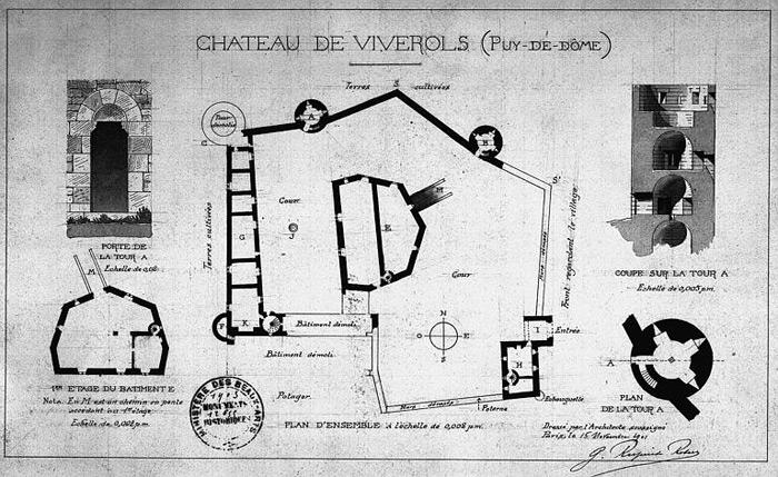 Plan du château de Viverols