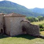 Chateau d'Arques - Tout-Logis ouest, vue du donjon