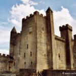 Chateau de Beynac - Le donjon vu de la cour intérieur