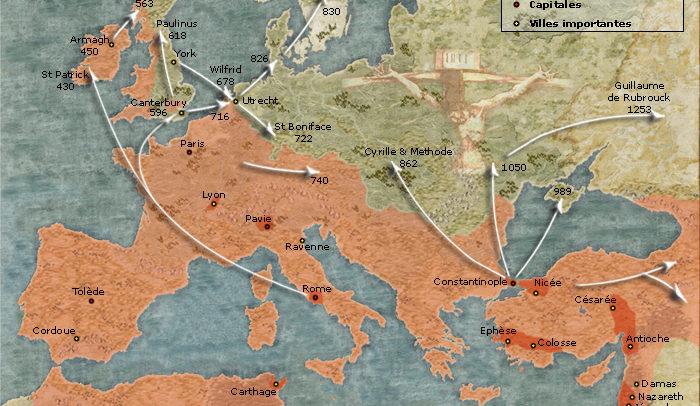Diffusion du Christianisme au VIe siècle