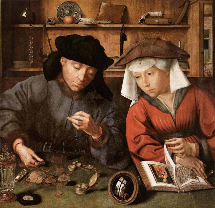 Le changeur et sa femme - Quentin Metsys