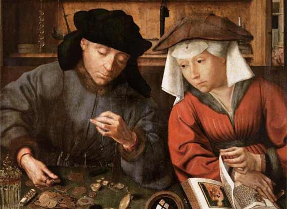 Le changeur et sa femme -Quentin Metsys